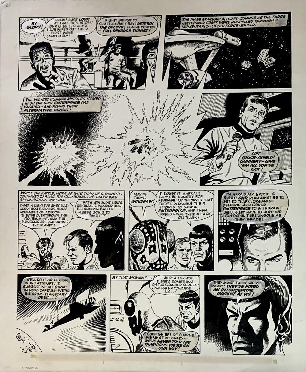 Star Trek Newspaper Strip 6-2-1973 (VERY LARGE)