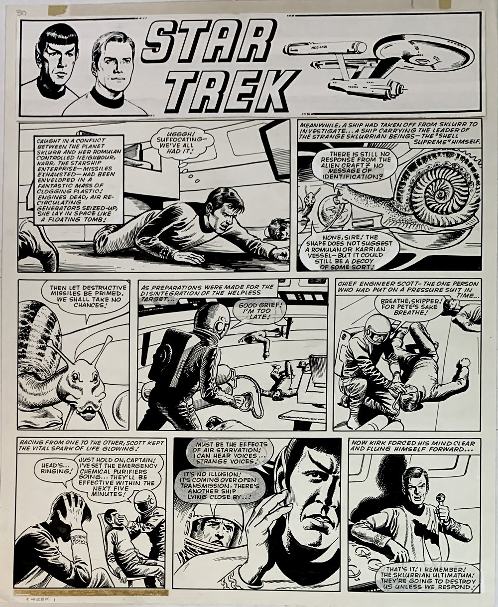 Star Trek Newspaper Strip 7-14-1973 (VERY LARGE)