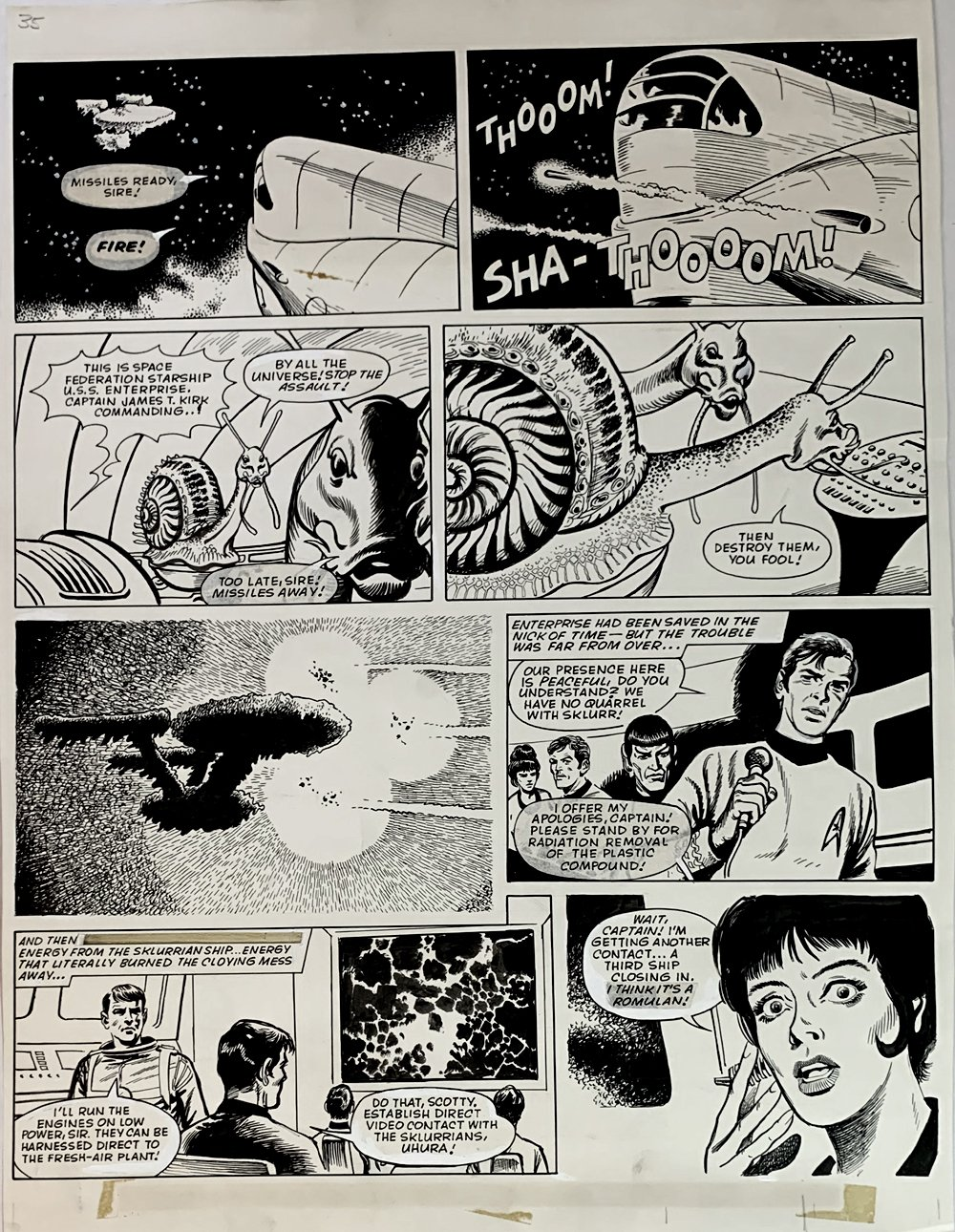 Star Trek Newspaper Strip 7-21-1973 (VERY LARGE)