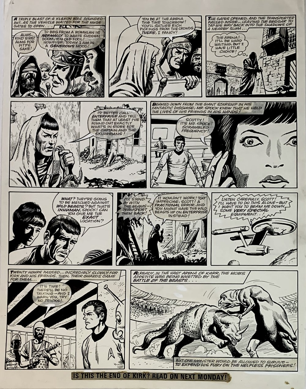 Star Trek Newspaper Strip 8-11-1973 (VERY LARGE)