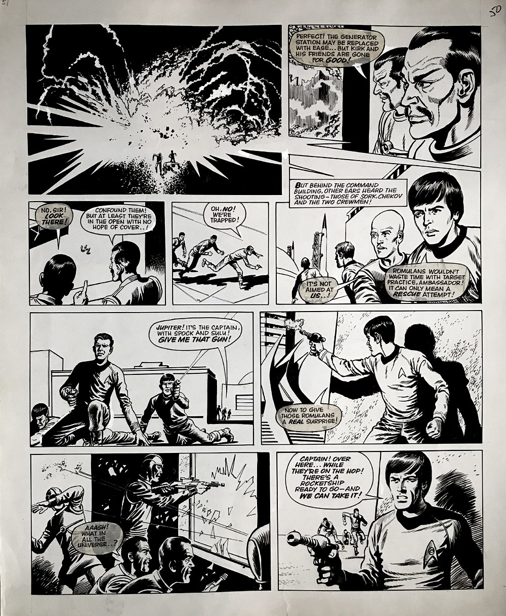 Star Trek Newspaper Strip (HUGE) 10-14-1972
