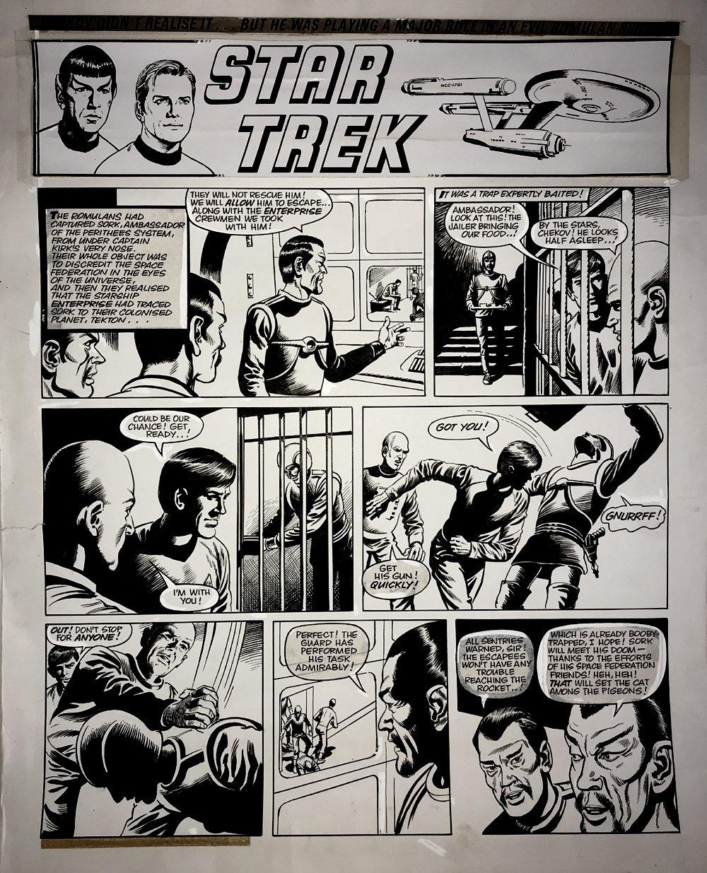Star Trek Newspaper Strip (HUGE) 10-7-1972