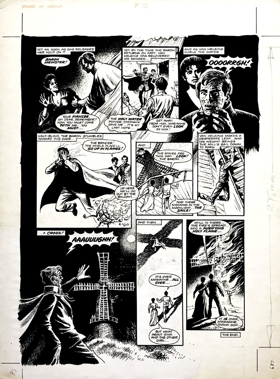 Halls of Horror #28 Magazine - Brides Of Dracula Last Page (Large Art) 1970s