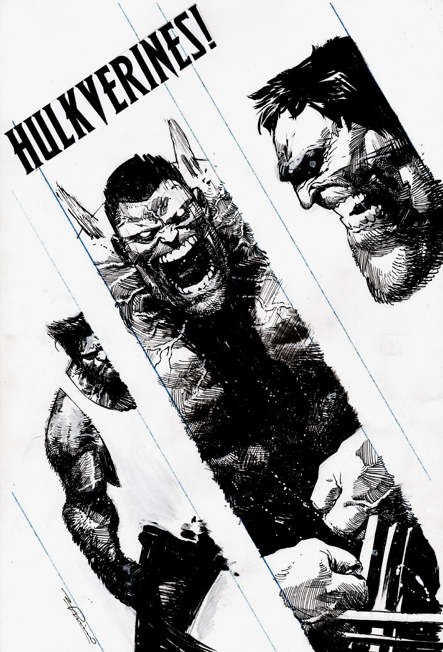 Hulkverines #3 Cover (HULK, WOLVERINE, WEAPON H!) 2019