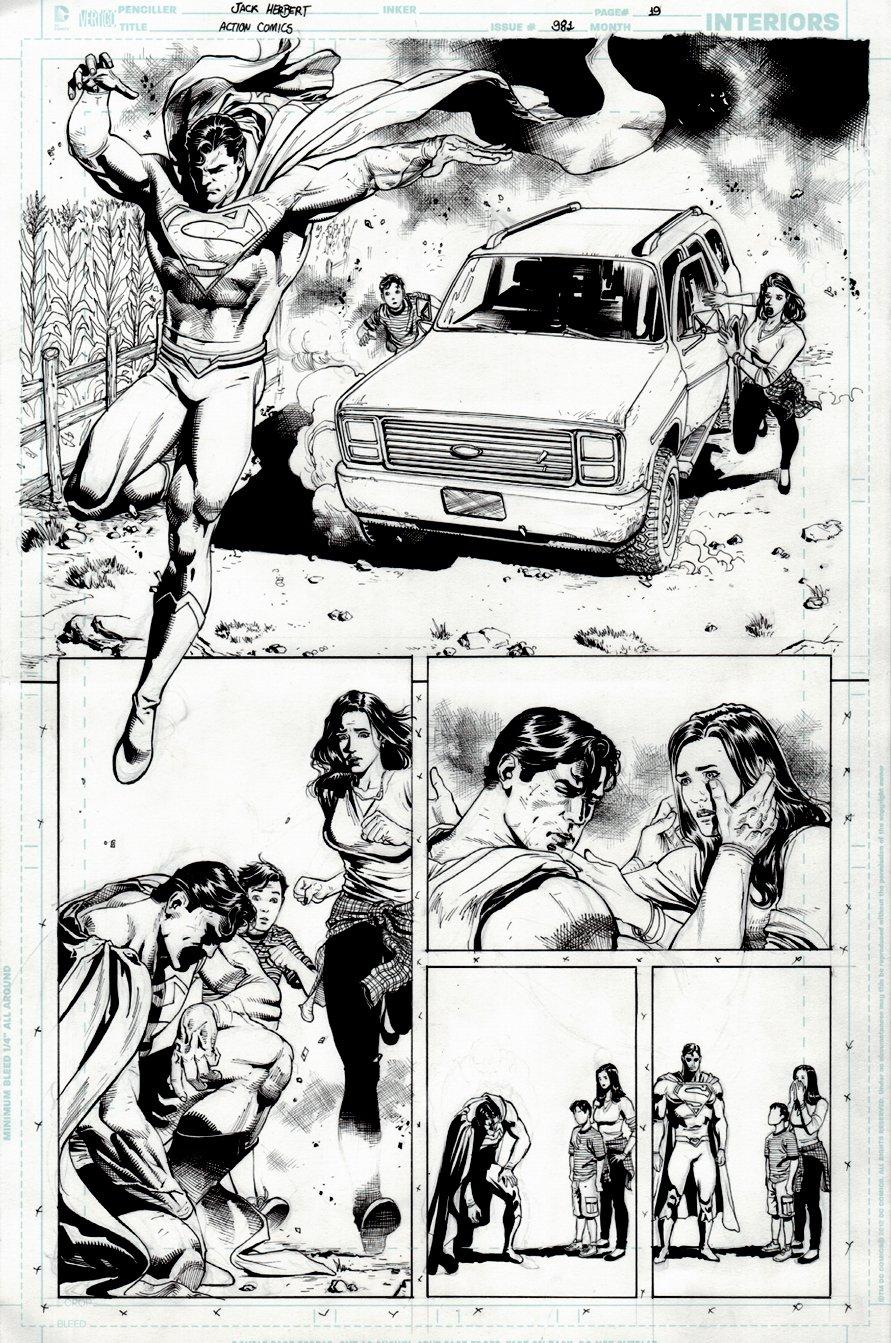 Action Comics #981 p 19 HALF SPLASH (2017)