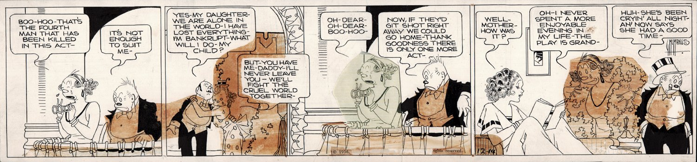 Bringing Up Father Strip Art 12-14-1936