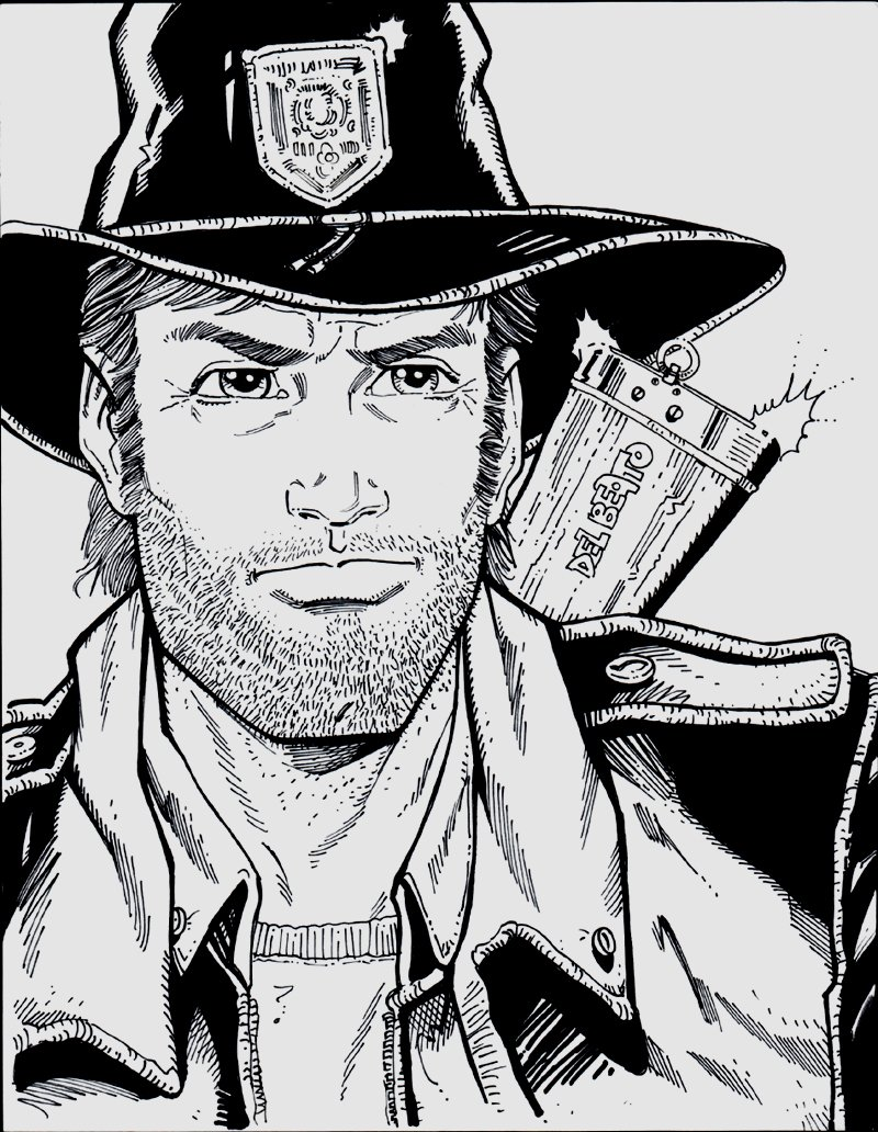 The Walking Dead - Rick Grimes Art Used For TV Show!