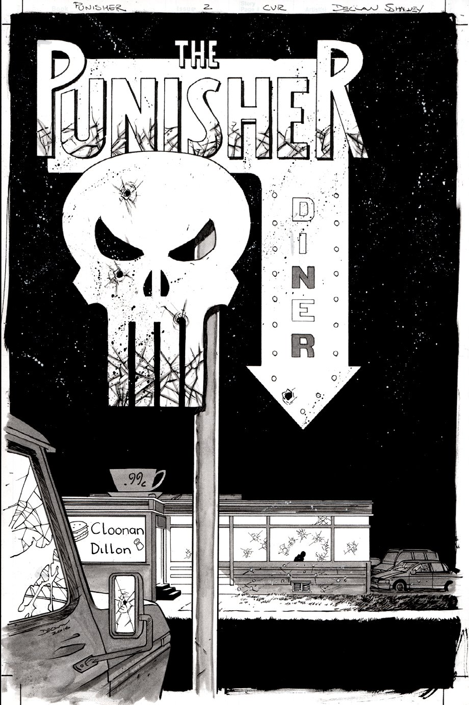 The Punisher #2 Cover (2016)