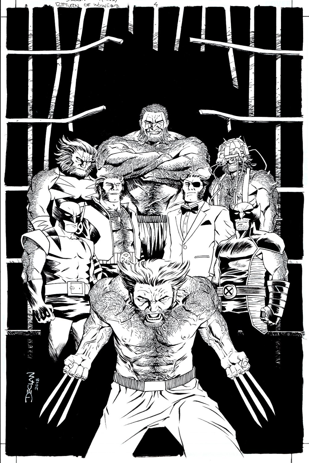 Return of Wolverine #4 Cover (8 DIFFERENT WOLVERINES FROM HIS FULL HISTORY, WOW!) 2018