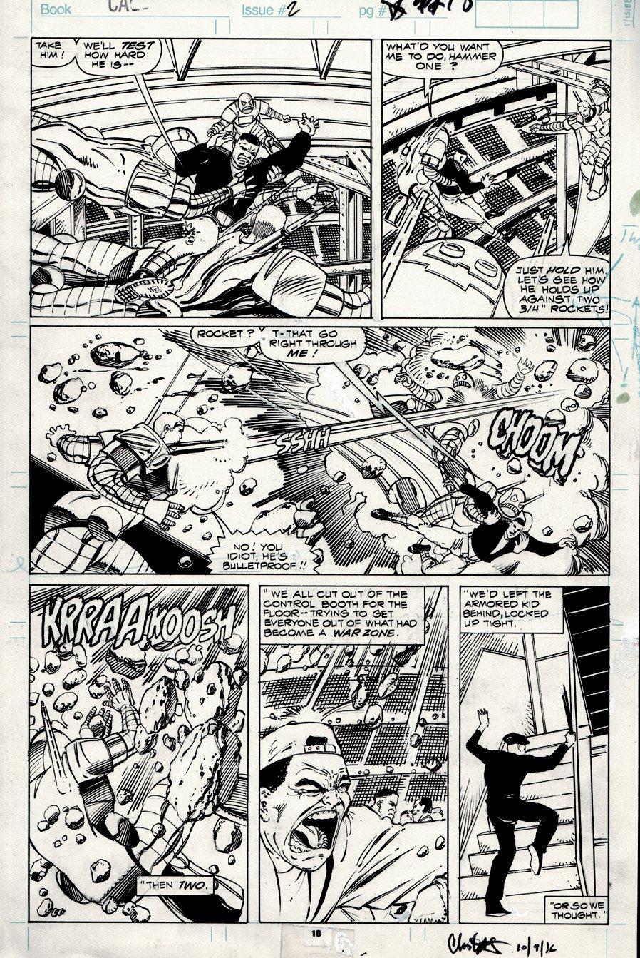 Cage #2 p 18 (Battle Page!) 1992