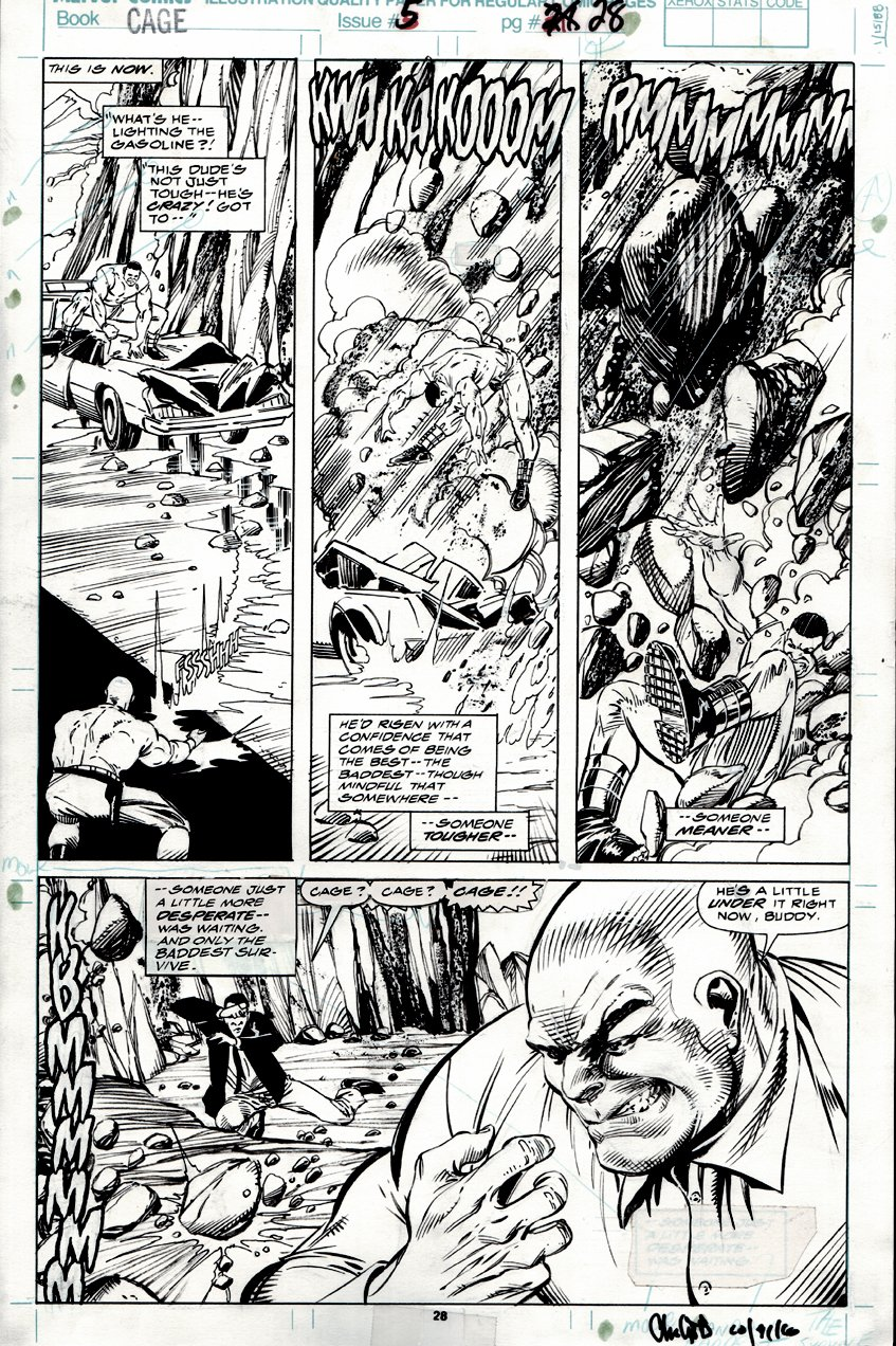 Cage #5 p 28 (ALL OUT BATTLE PAGE!) 1992