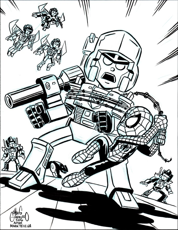 Transformers #3 Cover Recreation (2016)