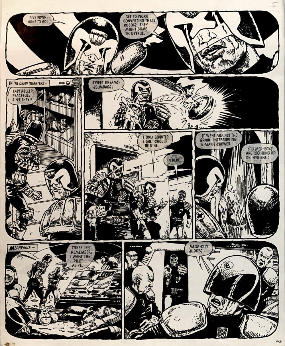 2000 AD #264 p 20 (LARGE ART JUDGE DREDD ACTION!) 1982