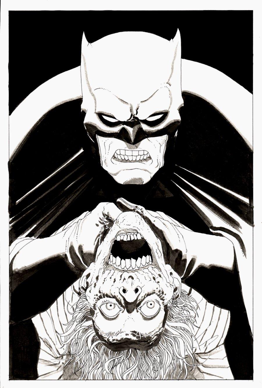 Batman Choking THE JOKER Pinup