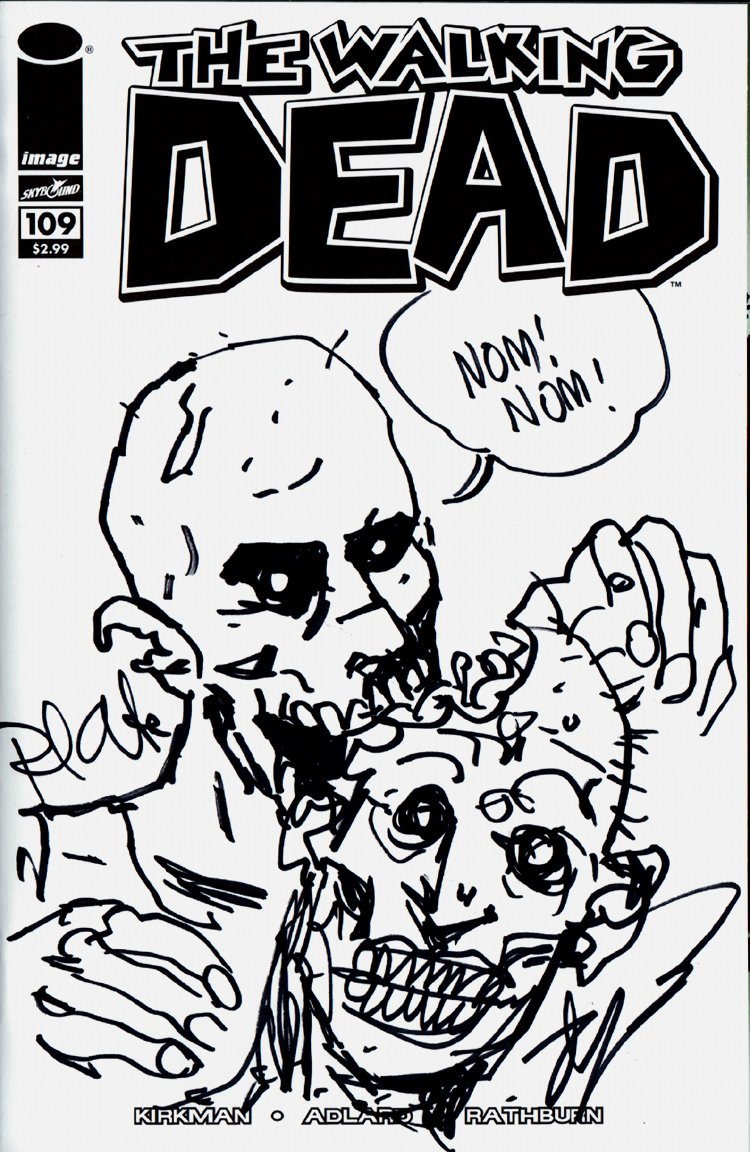 The Walking Dead #109 Sketch Cover (ROBERT KIRKMAN SIGNED!)