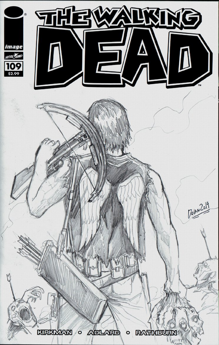 The Walking Dead #109 Sketch Cover (2014)