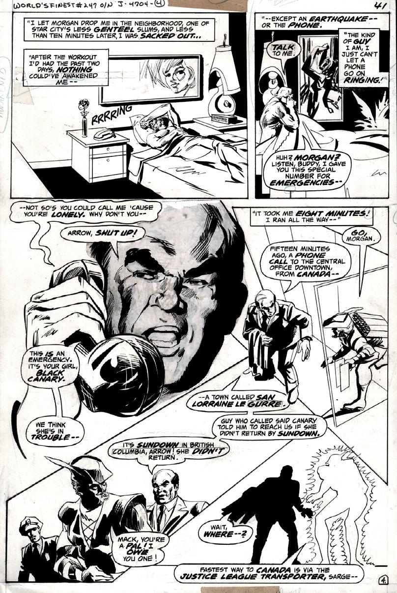 World's Finest Comics #247 p 4 (GREEN ARROW!) 1977