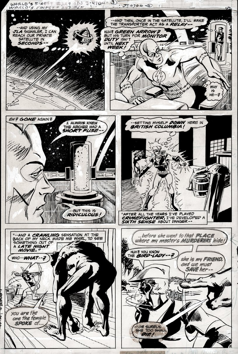 World's Finest Comics #247 p 5 (FLASH & GREEN ARROW!) 1977