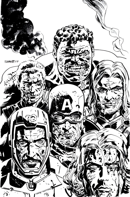Zombies Assemble 2 #1 Cover (Zombie Hulk, Ironman, Captain America, Black Widow, Thor, Hawkeye!) 2017