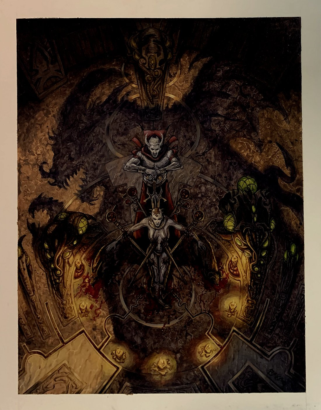 'Demon: Earthbound' Role Playing LARGE Cover Painting (Famed Dungeons & Dragons, Magic the Gathering Artist!) 2003