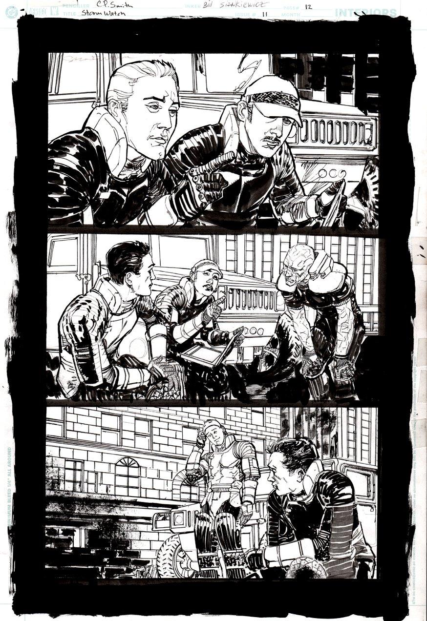 Stormwatch #11 p 12 ( BILL SIENKIEWICZ INKS!) 2003
