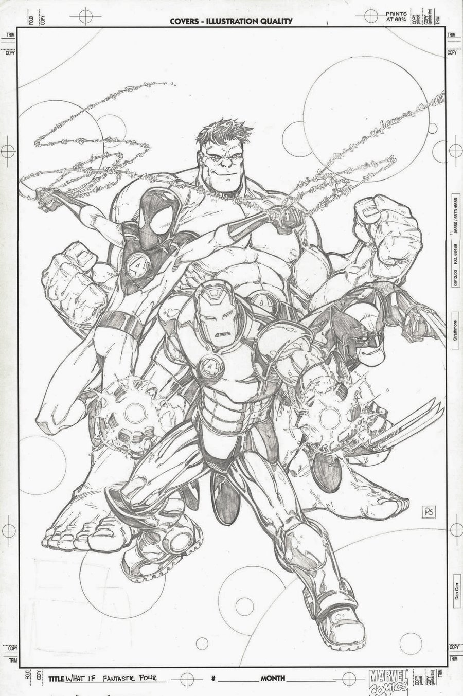 What If? Newer Fantastic Four #1 Cover (Hulk, Wolverine, Iron Man, Spider-Man!) 2008