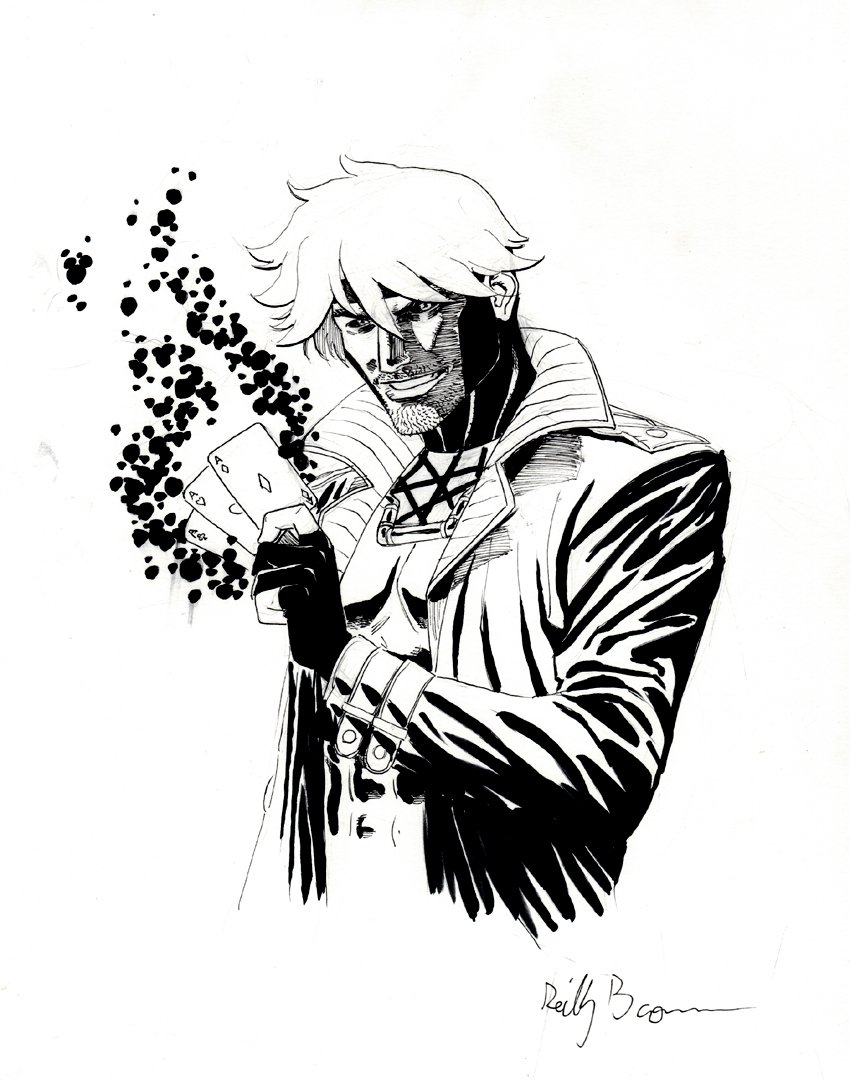 GAMBIT With Electrified ACES Pinup