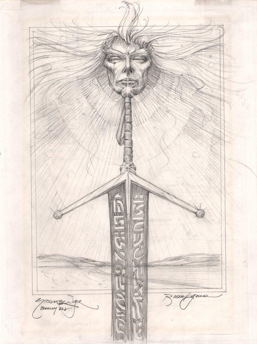Stormbringer - Elric of Melnibone Pencil For Signed & Numbered Litho