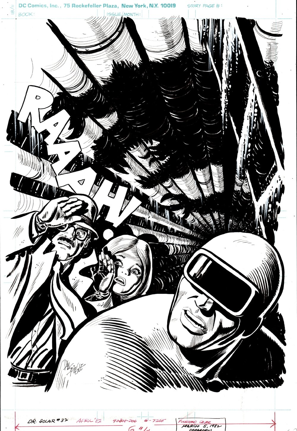 Doctor Solar, Man of the Atom #32 Cover (SOLD LIVE ON THE ROMITAMAN ART DROP PODCAST ON 10-9-2021)