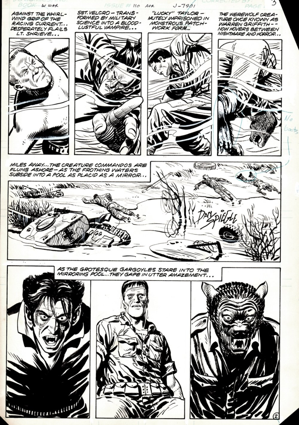 Weird War Tales #110 p 2 (SOLD LIVE ON 'DUELING DEALERS OF COMIC ART' EPISODE #33 PODCAST ON 8-25-2021(RE-WATCH THIS FUNNY ART SELLING SHOW HERE)