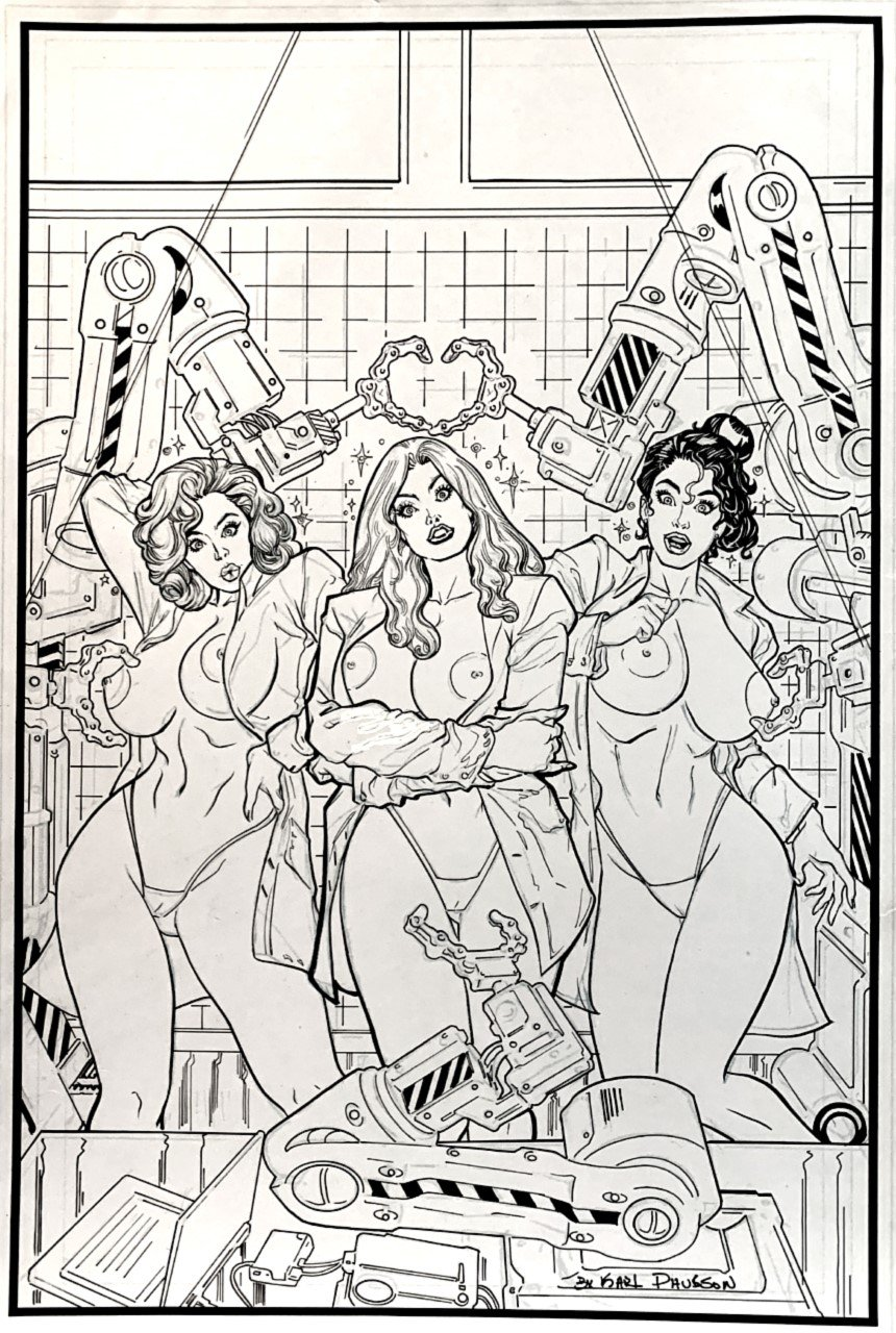 3 Sexy Nude Women (Published Print For Comic-Con) OVER 18 YEARS OLD TO VIEW!