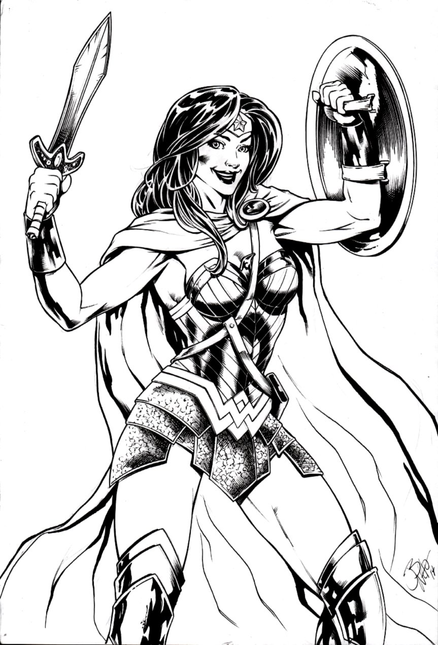 Large Wonder Woman Pinup (2014)