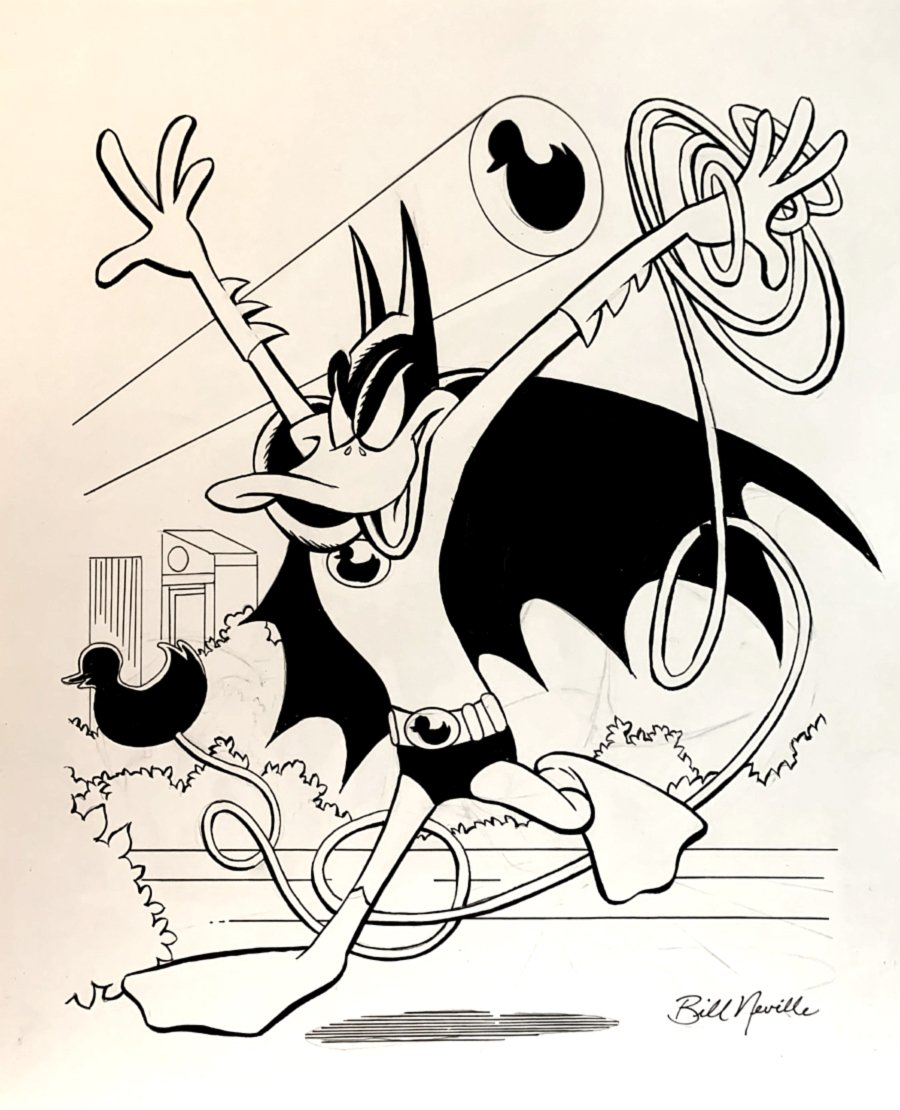 DarkWing Duck (Daffy Duck As Batman) Large Pinup