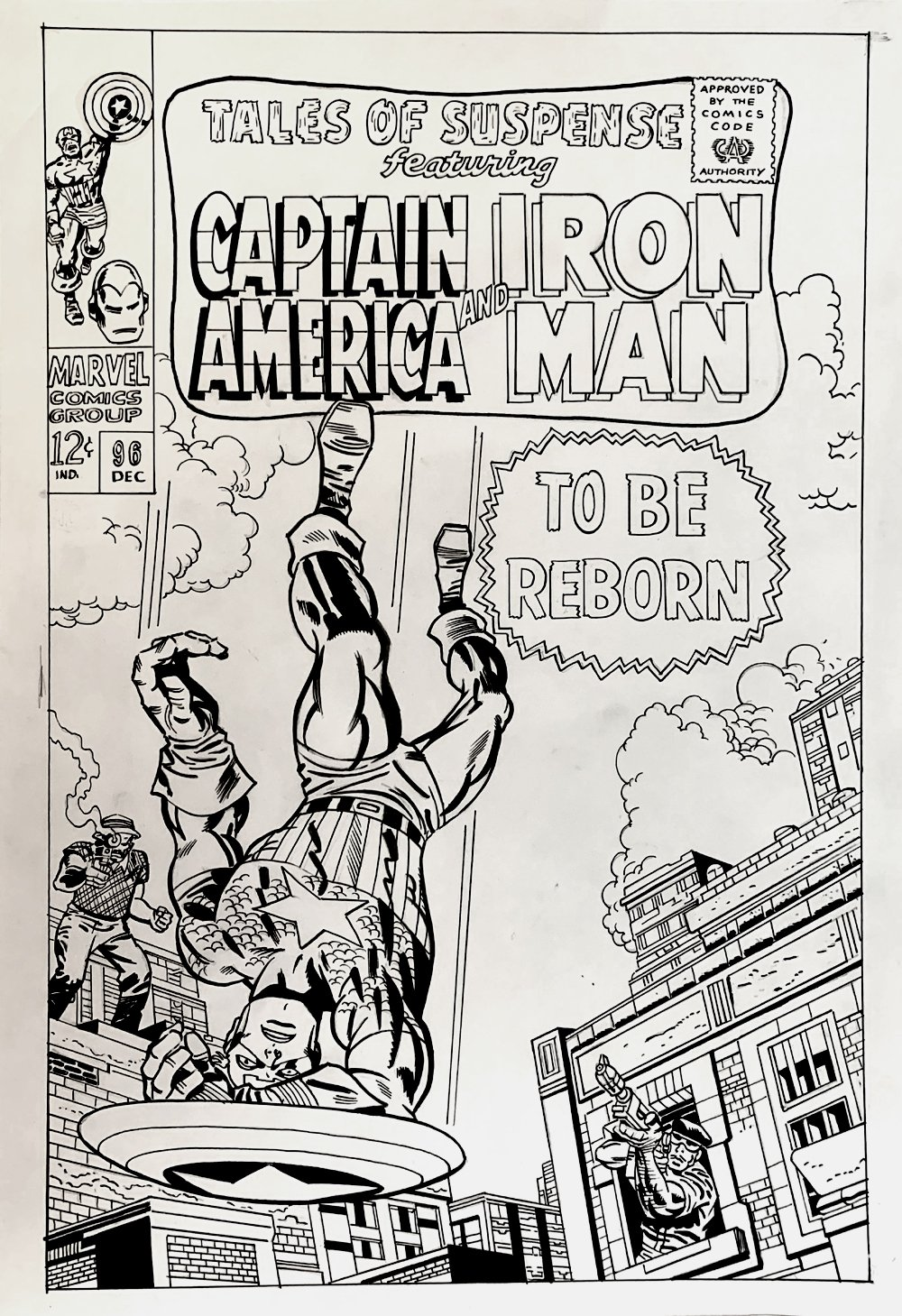 Tales of Suspense #96 Large Cover Recreation