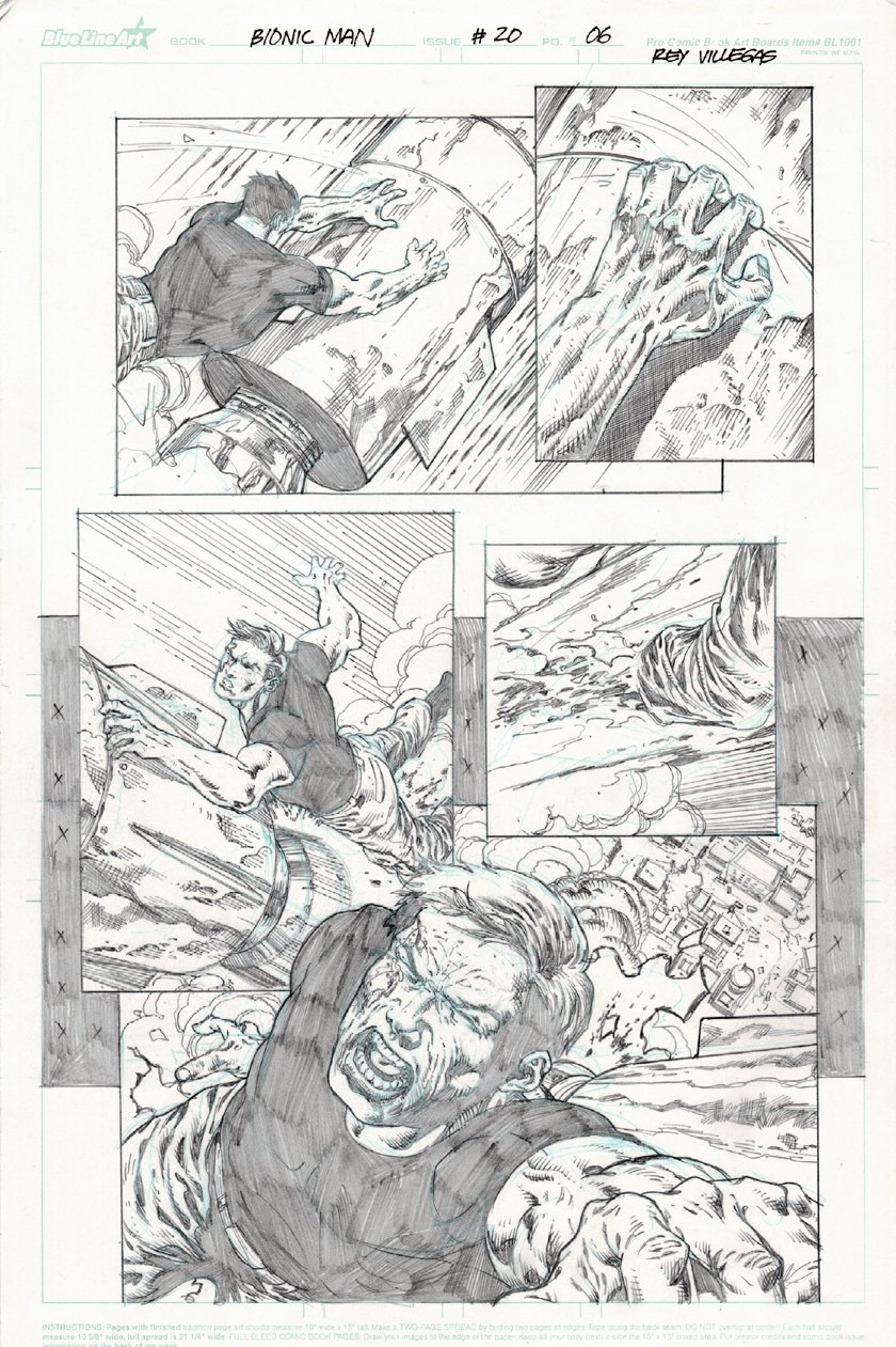 Bionic Man #20 p.6 (All Out Battle Page!) 2013