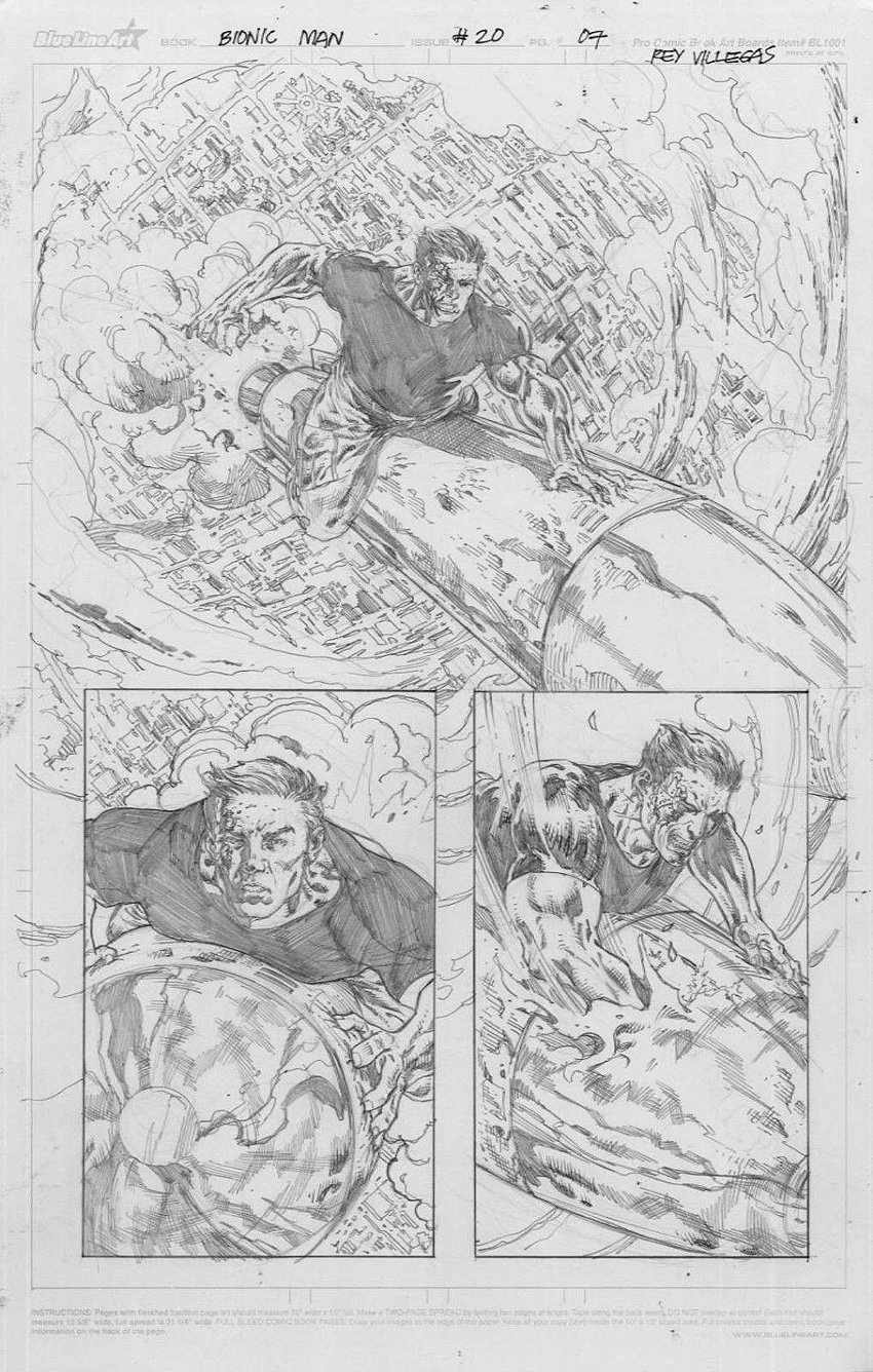Bionic Man #20 p 7 (All Out Battle Page!) 2013