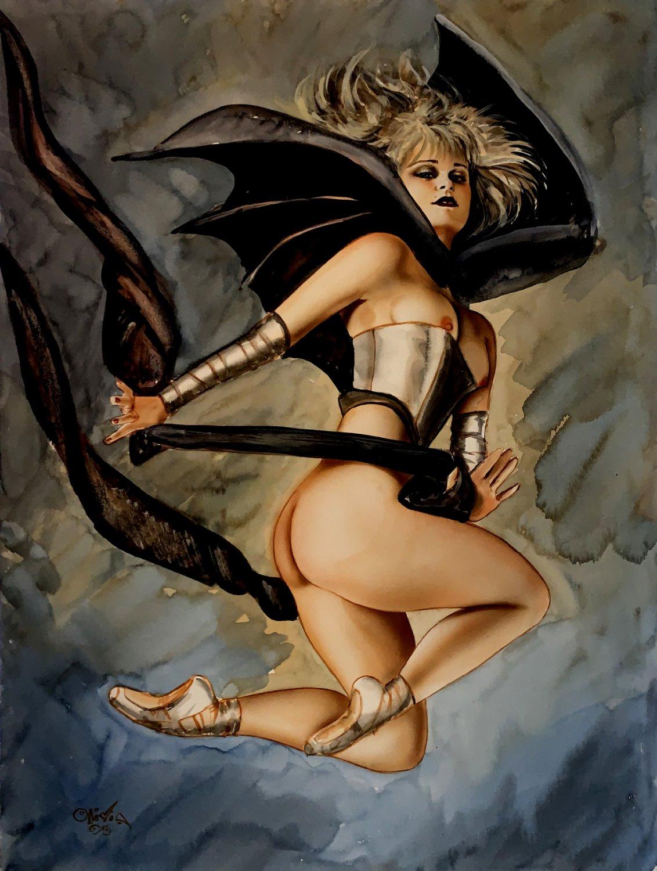Olivia Large 'LINNEA' Published Nude Painting (1995)