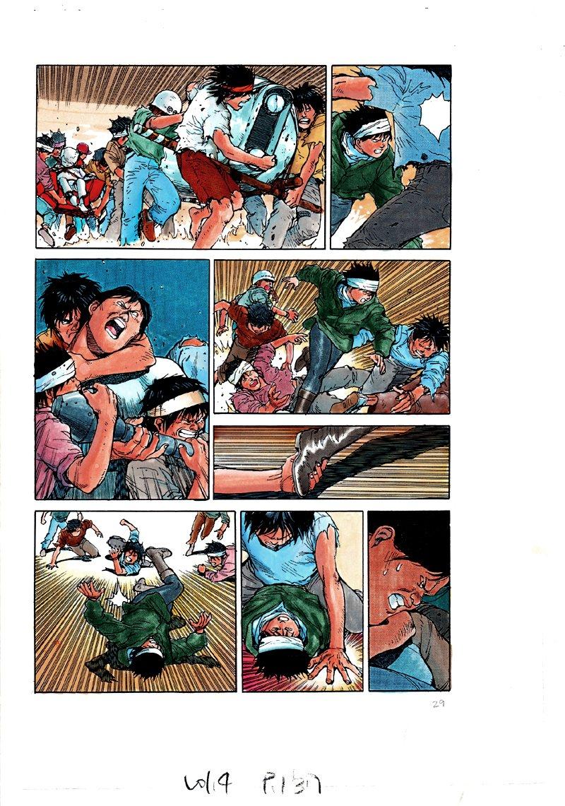 AKIRA Volume 1 p 137 Hand Colored Art