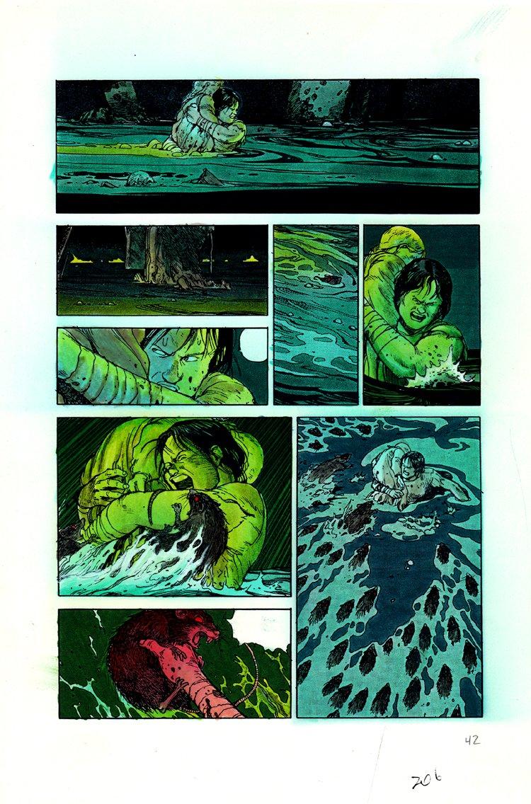 AKIRA Volume 1 p 206 Hand Colored Art