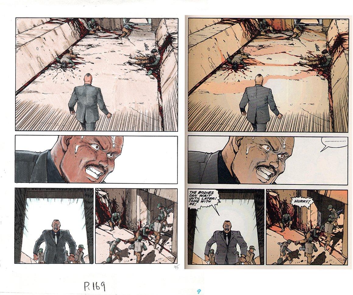 AKIRA Volume 1 p 169 Hand Colored Art