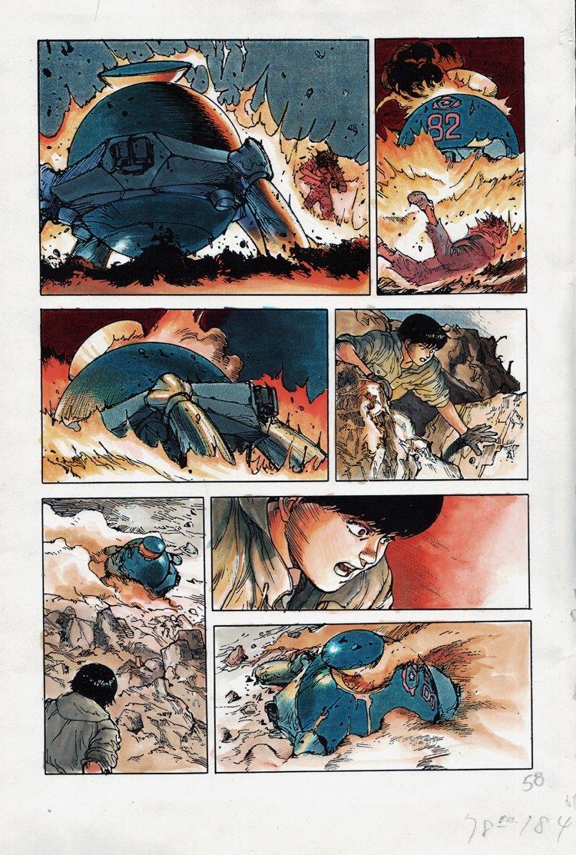 AKIRA Volume 1 p 58 Hand Colored Art