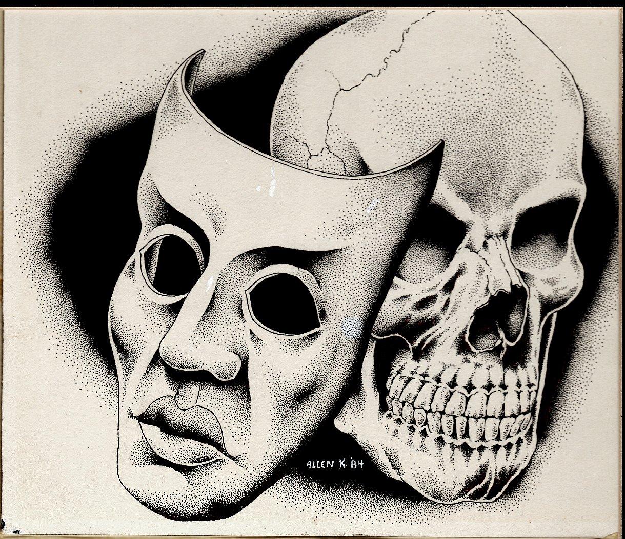 Skull & Mask Published Fanzine Pinup (1984)