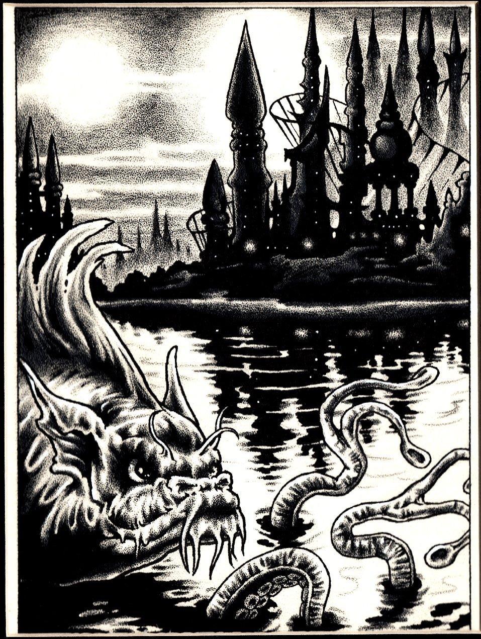 Swamp Creature Published Fanzine Pinup (1993)
