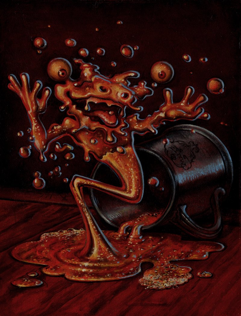 GUARDIANS Collectible Fantasy Card Painting #20 'WATER SPOUT - HAUNTED HOPS' CARD (1995)