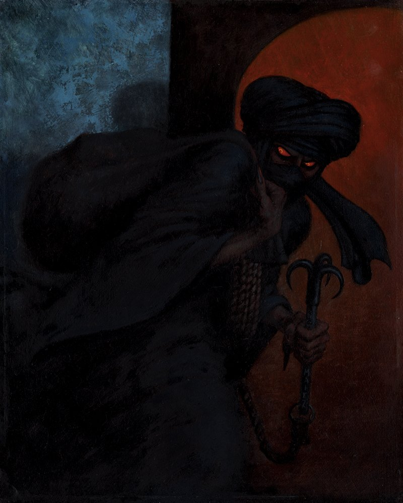 GUARDIANS Collectible Fantasy Card Painting  'THIEF OF SHADOW' CARD (1996)