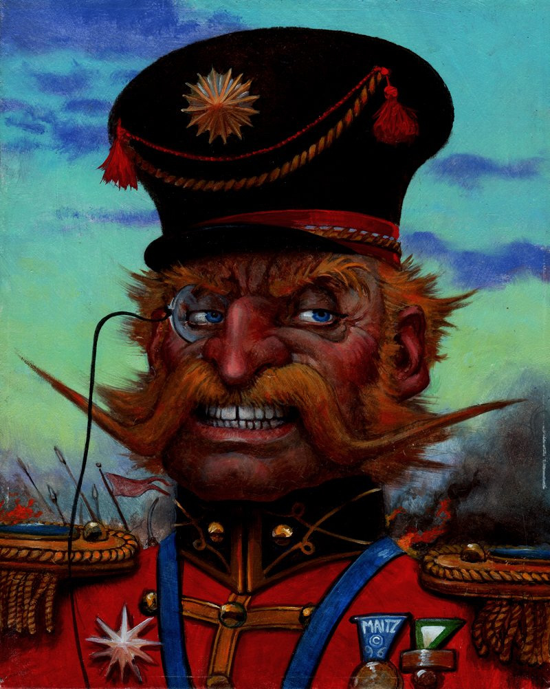 GUARDIANS Collectible Fantasy Card Painting  'EVIL BARON STONER' CARD (1996)