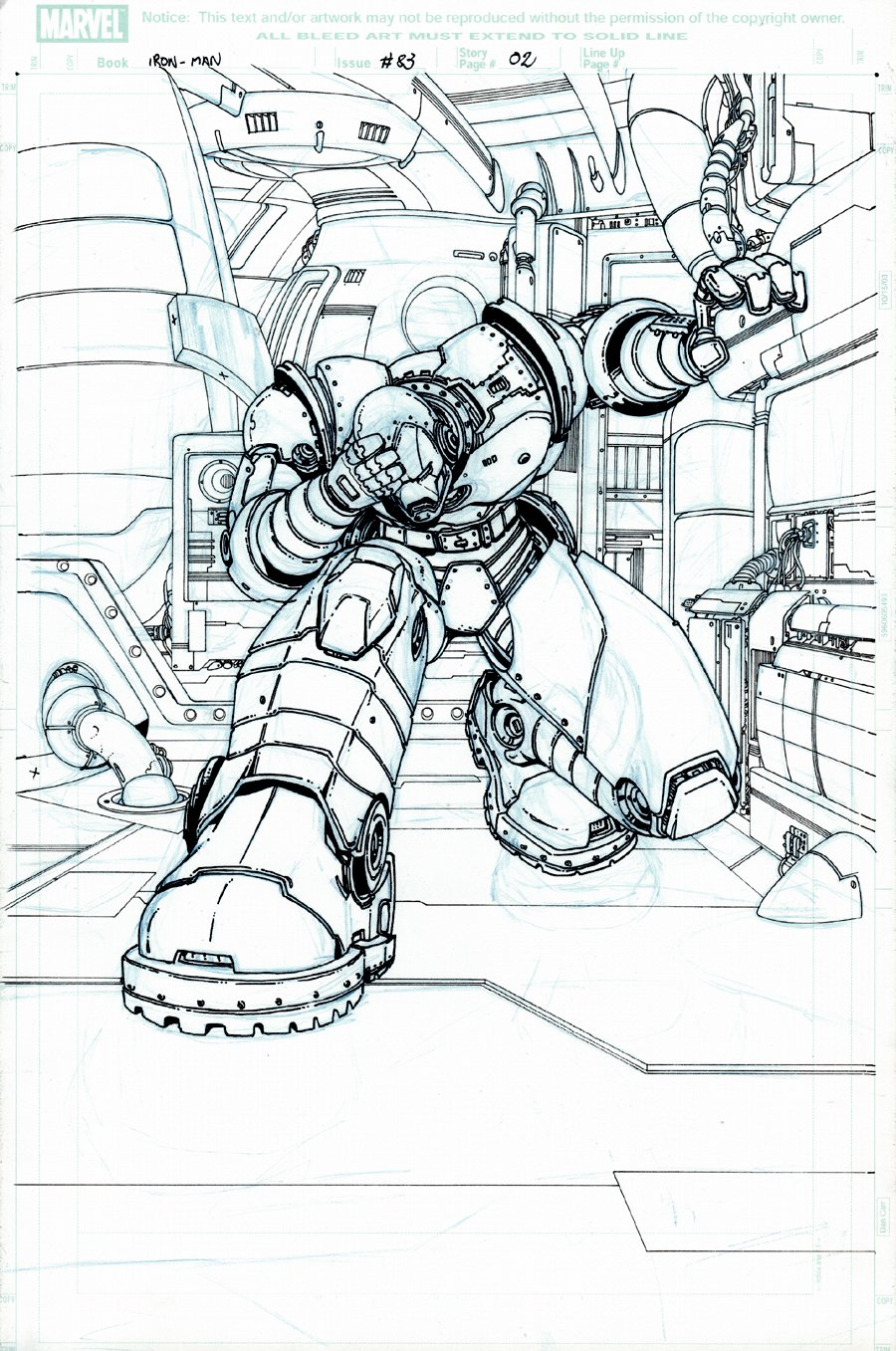 Iron Man #83 (427) p 2 SPLASH (LARGE IRON MAN!) 2004
