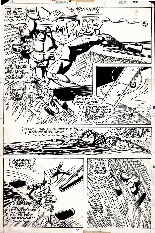 Human Fly #16 p 30 Semi-Splash (Human Fly Saves Boy As They Both Go Over Niagara Falls!) 1978