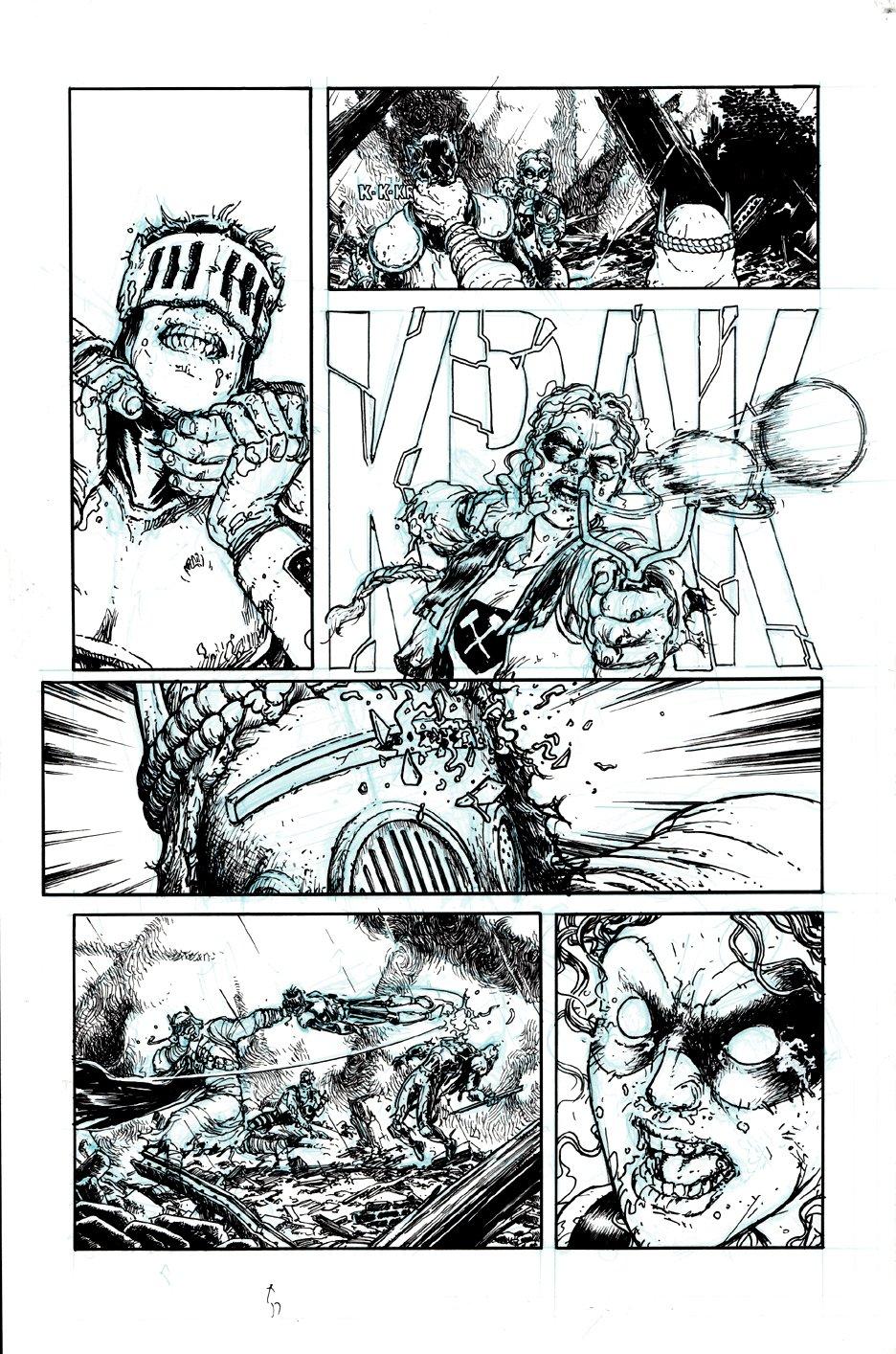 Batman, Inc. #6 p 9 (Knight Dies By Heretic!) 2011
