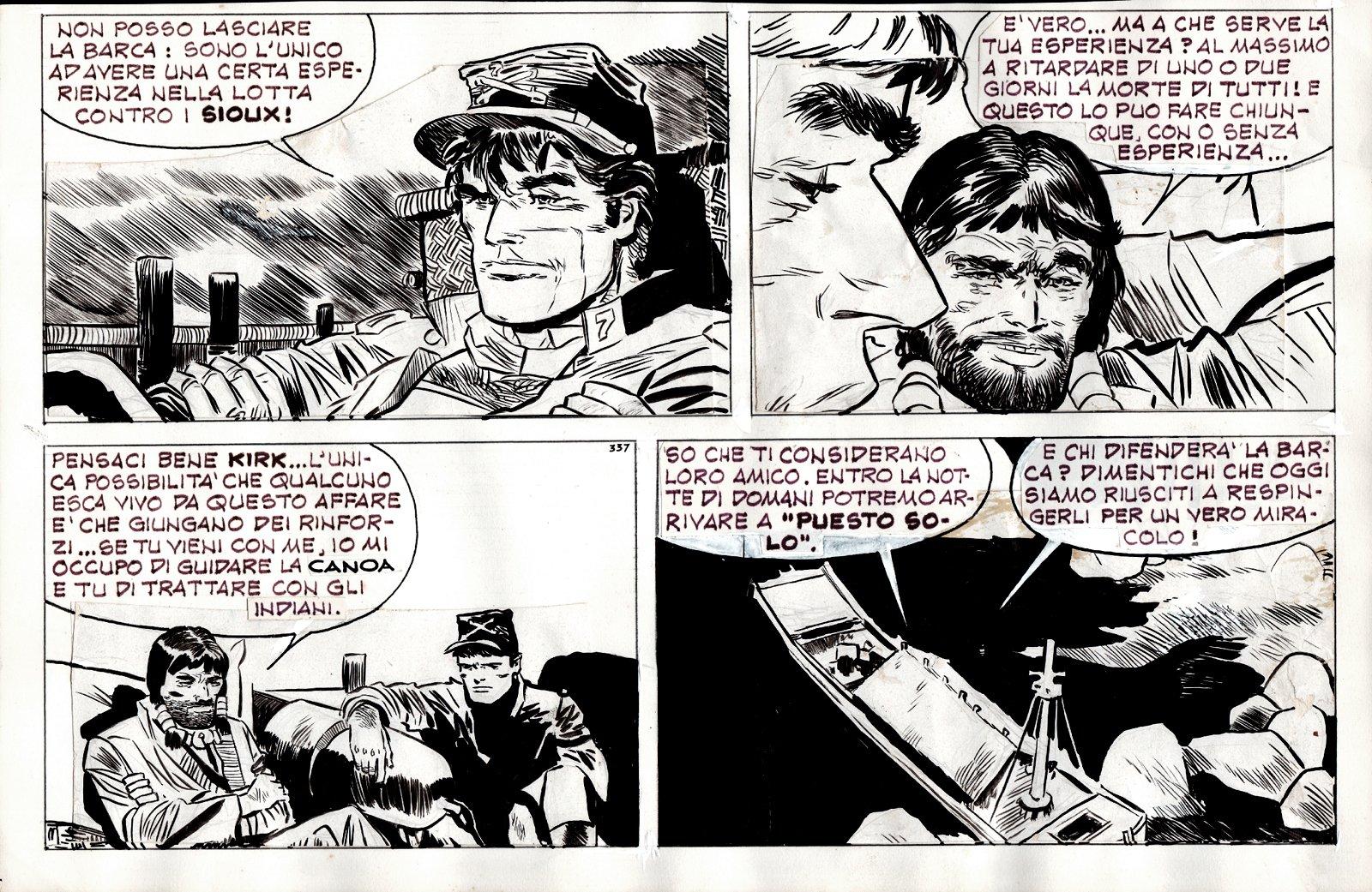 Sgt. Kirk Strip Art (1954)